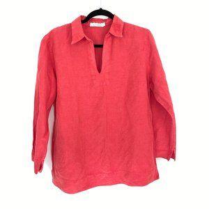 CUT LOOSE Women's Linen / Silk Blend Pullover Top